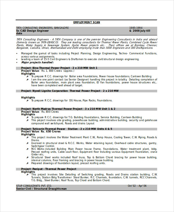 civil draftsman resume - Boiler Engineer Sample Resume