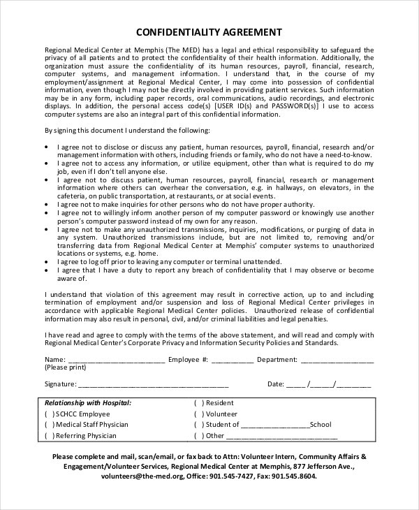 17+ Confidentiality Agreement Templates - Free Sample, Example