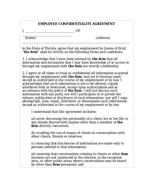 20 confidentiality agreement templates free sample example format free premium templates. Black Bedroom Furniture Sets. Home Design Ideas