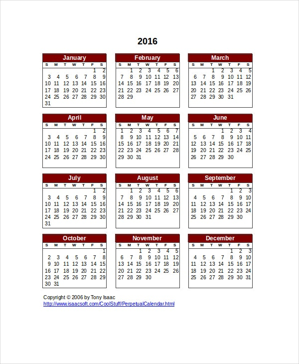 April Calendar Houston : Perpetual calendar free pdf psd documents download