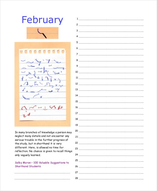 short-hand-perpetual-calendar
