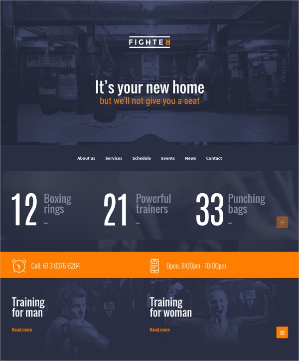 Training Martial Arts WordPress Theme