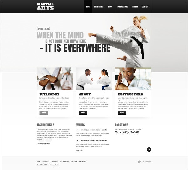 Responsive Martial Arts WordPress Theme