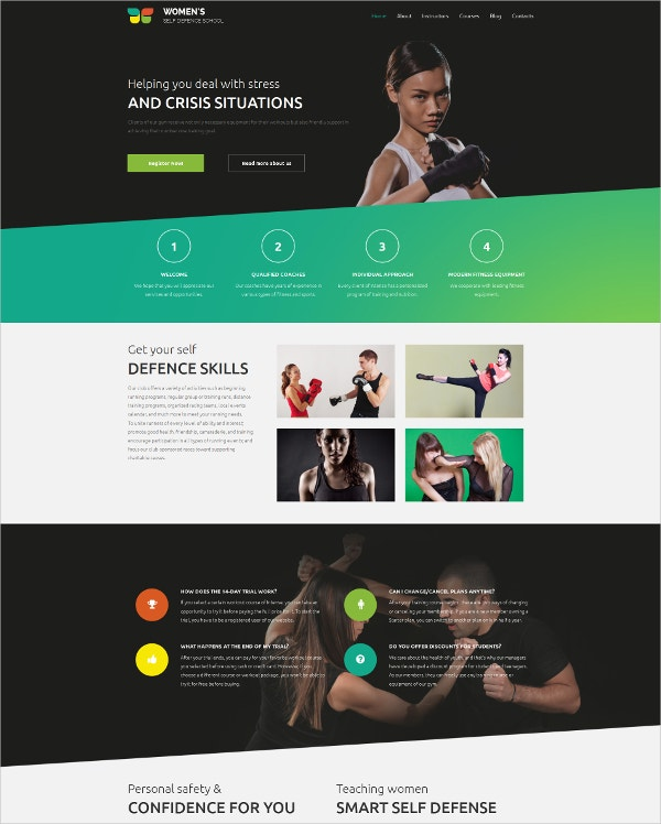 Martial Arts Responsive Moto WordPress Theme