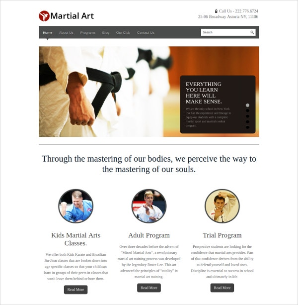 Powerful Martial Art WordPress Theme