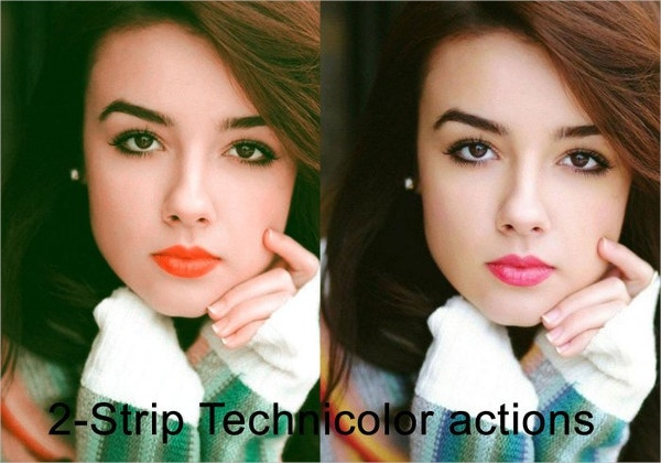 2 strip technicolor photoshop actions