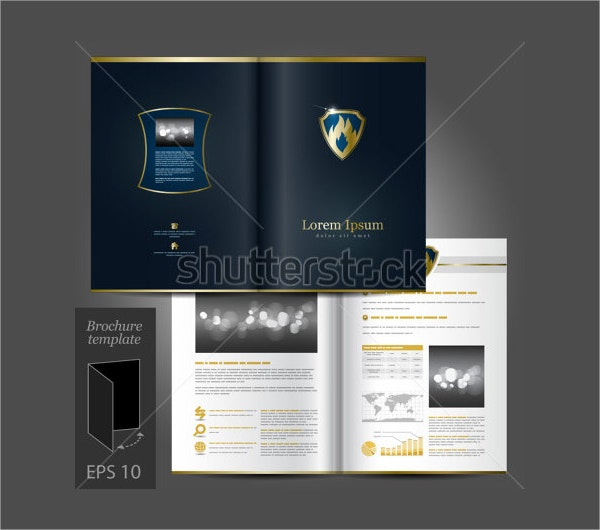 Vector Luxurious Brochure Template