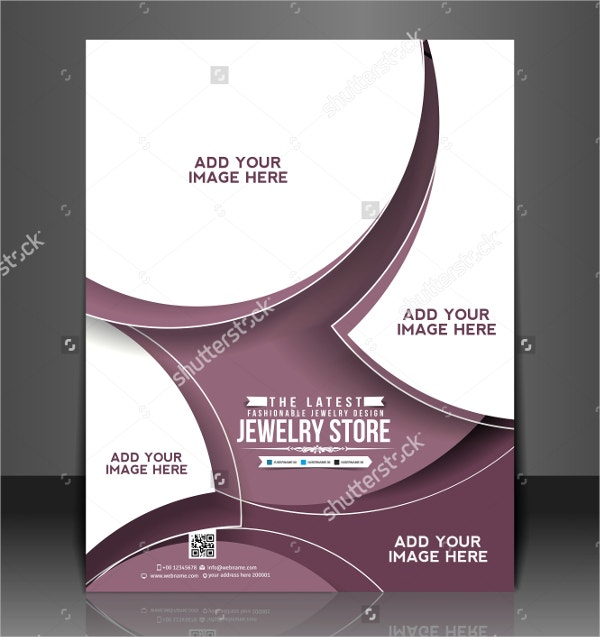 Vector Jewelry Store Brochure