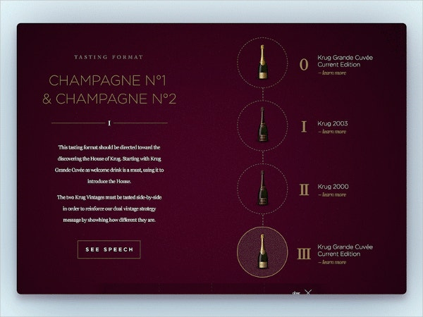 Luxury Champagne Brochure