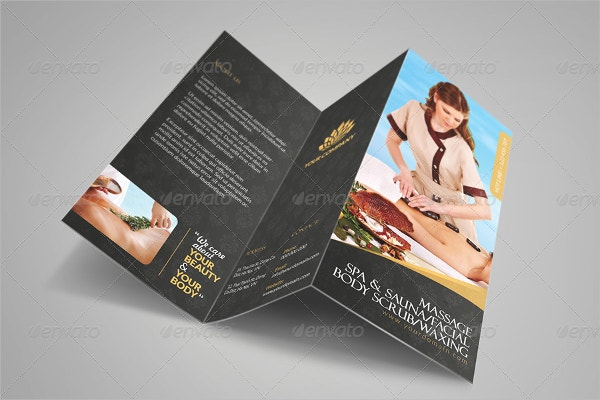 Luxury Spa Tri Fold Brochure