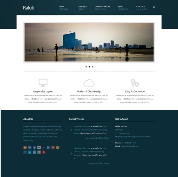 Business One Column WordPress Theme