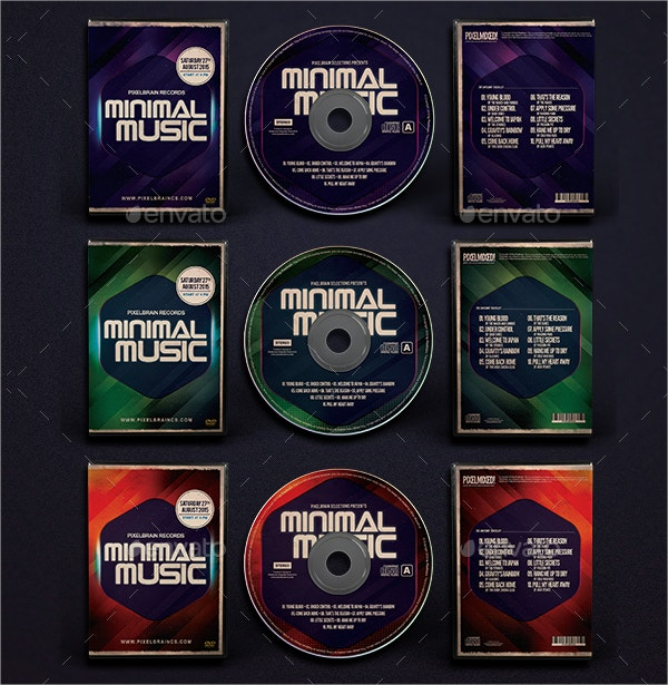 minimal music dvd album artwork
