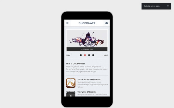 Android One Column WordPress Theme
