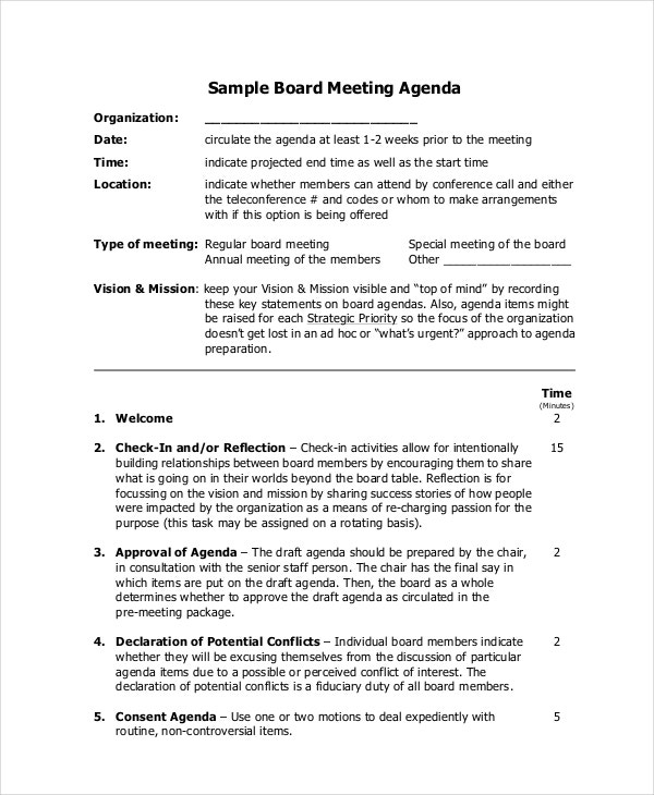 Meeting Agenda Template 10 Free Word PDF Documents Download – One on One Meeting Agenda Template