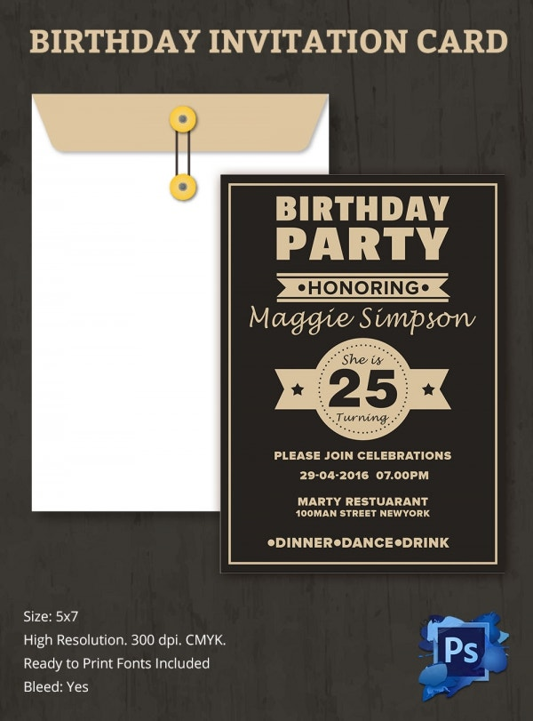 Freebie of the Day - Birthday Party Invitation