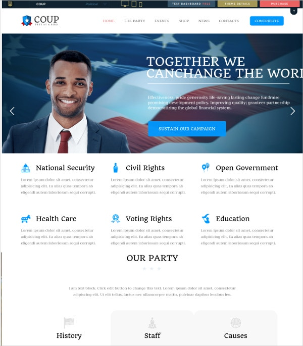 Premium Political Campaign WP Website Theme