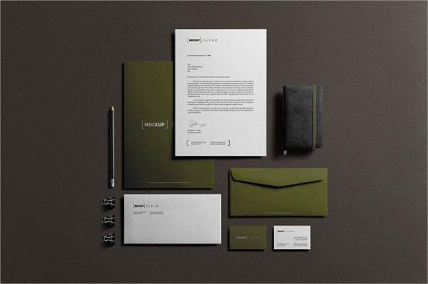 Realistic Stationery Mock Up Design