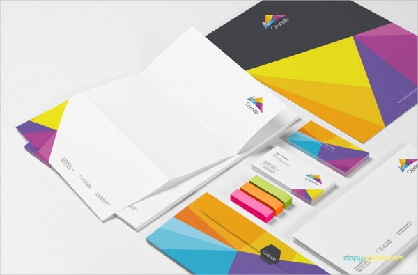 Set of Stationery Mock Up Design