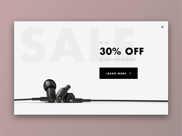 Sale Pop-Up Design