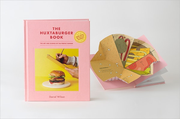 Huxtaburger Book Popup Design