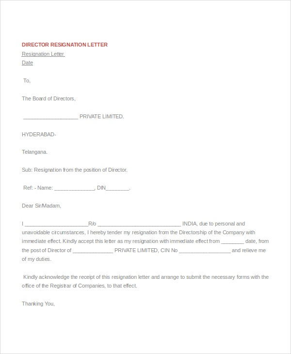 resignation letter 15 free word pdf documents download