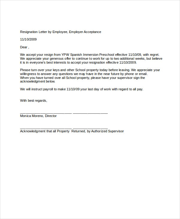 Resignation letter 22 free word pdf documents download free resignation letter by employee template altavistaventures Choice Image