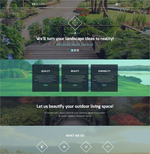 Premium Landscaping WordPress Theme $75
