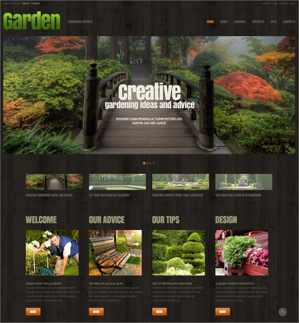 Landscaping Responsive WordPress Theme $75