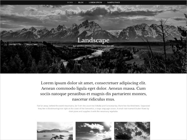 free landscaping business wordpress theme