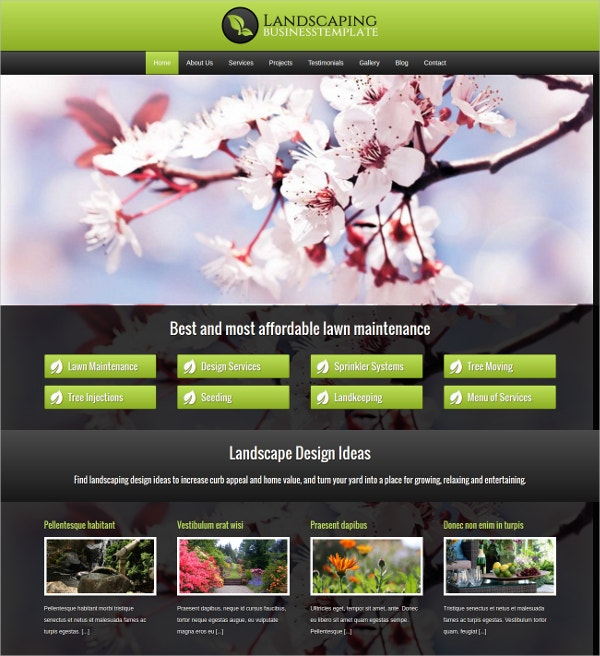 professional landscaping wordpress theme