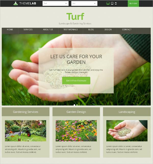 WordPress Landscape & Gardening Business Theme