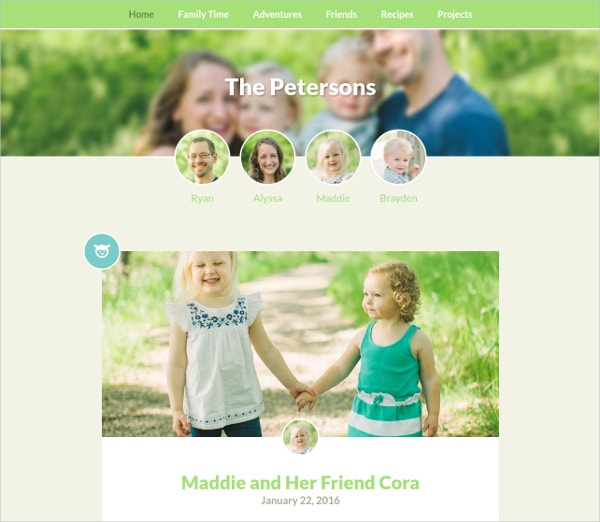 Simple Family WordPress Theme