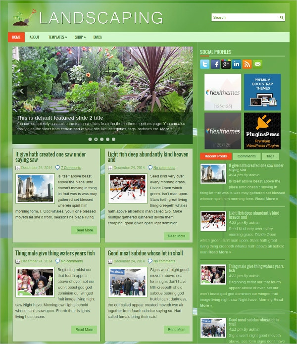 beautiful landscaping wordpress theme