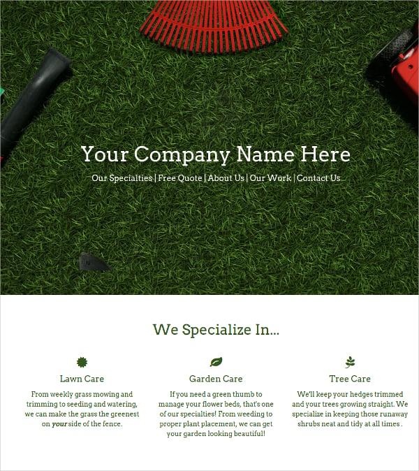 beautiful landscaping business wordpress theme