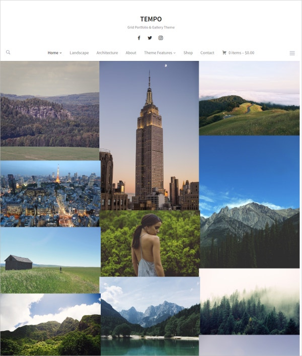 Photography Landscaping WP Theme $65