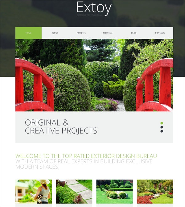 Creative Landscaping WordPress Theme $75