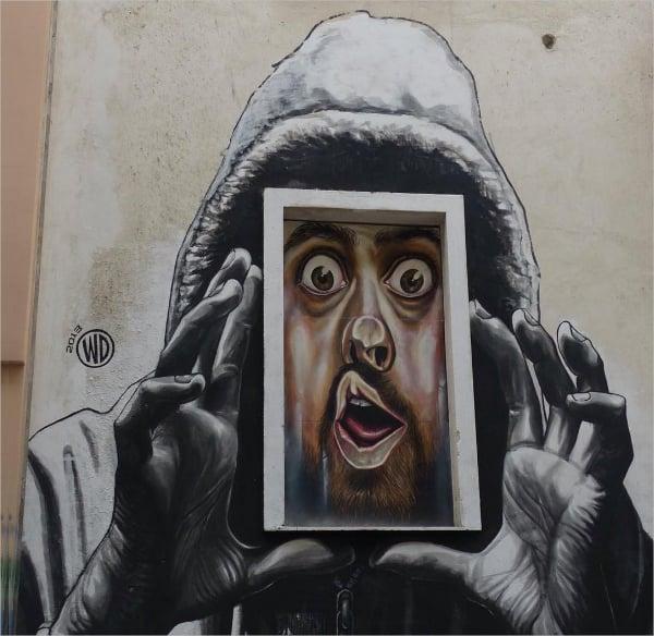 Street Athens Retro Street Art