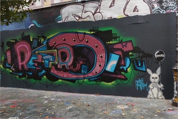 Awesome Graffiti Retro Street Art