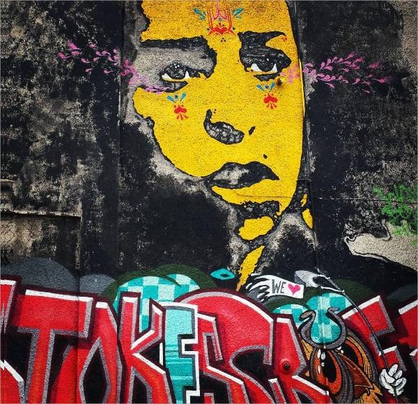 stoke street bristol retro street art