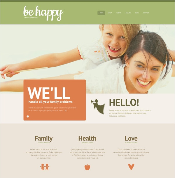 Family Health WordPress Theme