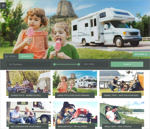 Family Camping WordPress Theme
