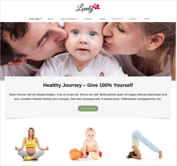 Lovely Family WordPress Theme