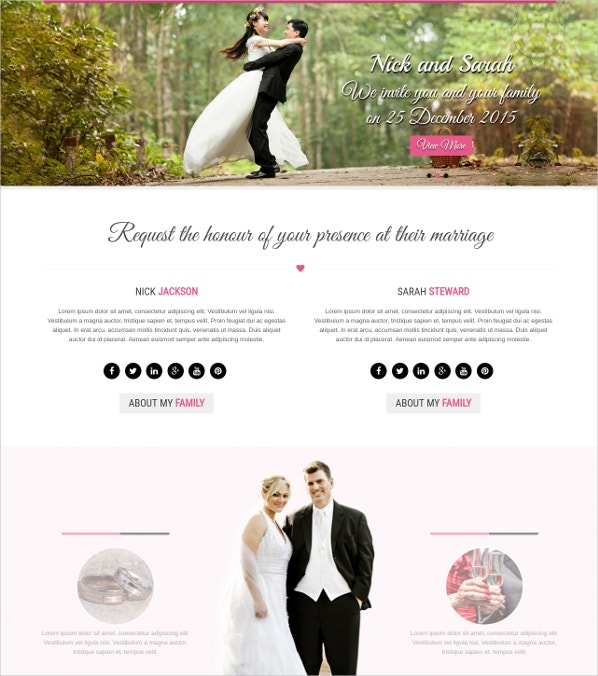 Wedding Family WordPress Theme