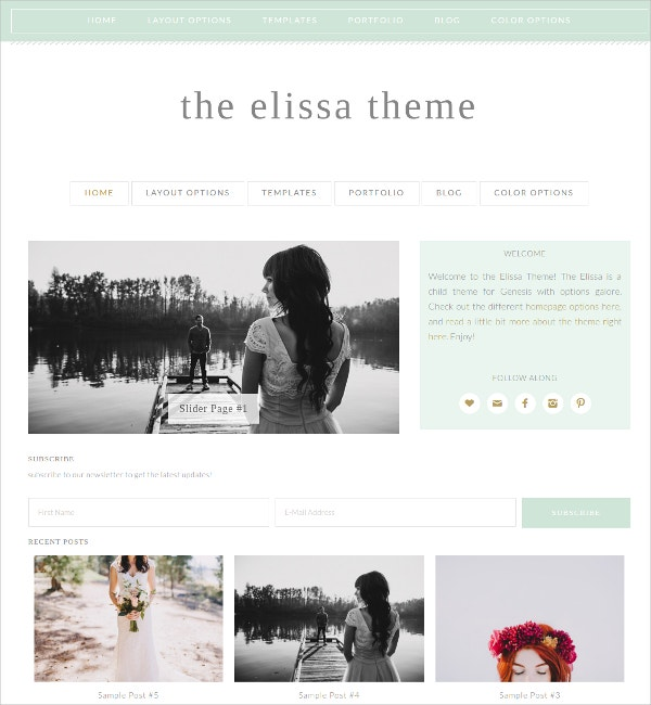 WordPress Genesis Child Theme for Women $50