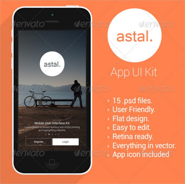 Astal Flat Mobile UI Design
