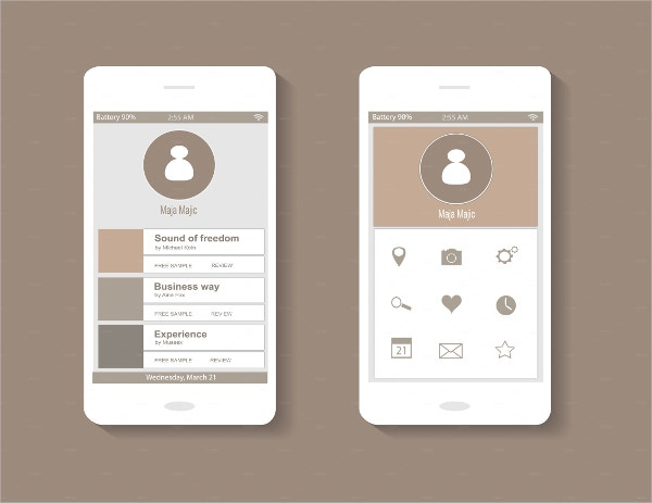 18 flat mobile ui designs free premium templates for User interface design document template