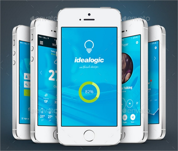 idealogic flat mobile app ui design