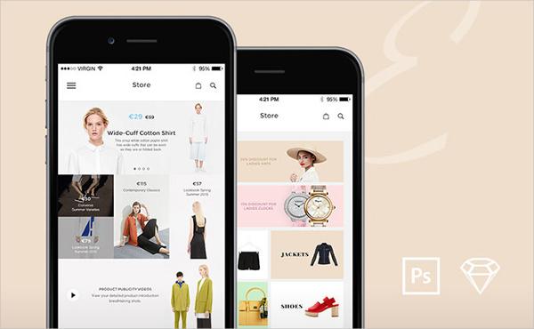 Elegance Flat Mobile UI Kit Free