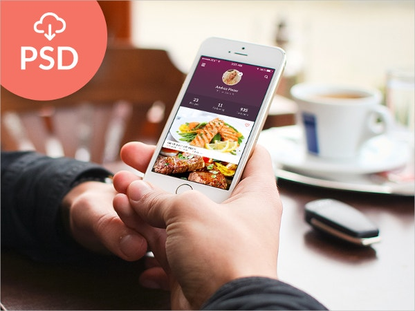 free psd flat mobile app ui