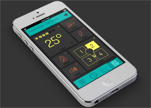 Smart Home Flat Mobile UI Design